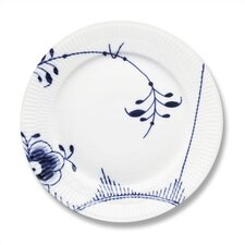 "Blue Fluted Mega 8.75"" Lunch / Dessert Plate"