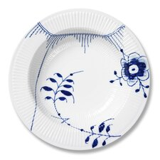 "Blue Fluted Mega 11.8"" Serving Plate"