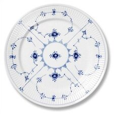 "Blue Fluted Plain 7.5"" Salad / Dessert Plate"