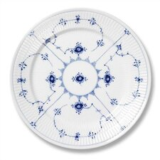 "Blue Fluted Plain 10.75"" Dinner Plate"