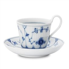 Blue Fluted Plain 8.75 oz. Cup and Saucer