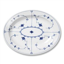 "Blue Fluted Plain 14.25"" Oval Platter"