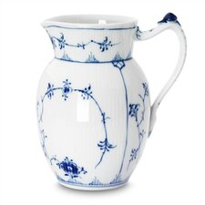 Blue Fluted Plain 32 Oz Pitcher