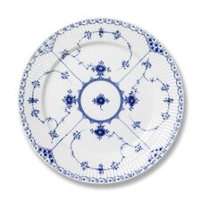 "Blue Fluted Half Lace 8.75"" Salad / Dessert Plate"