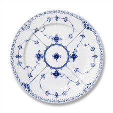 "Blue Fluted Half Lace 10.75"" Dinner Plate"