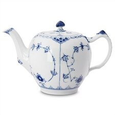 Blue Fluted Half Lace 34 Oz Teapot