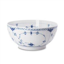 Blue Fluted Half Lace Salad Bowl