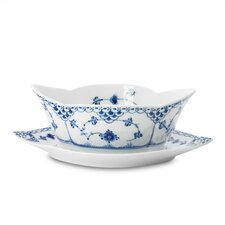 Blue Fluted Half Lace 13.5 oz. Sauce Boat