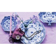 Blue Fluted Full Lace Dinnerware Collection