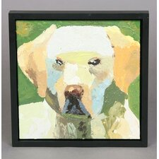 Golden Lab Framed Original Painting
