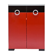 C10 Shoe Cabinet in Red