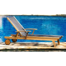 <strong>Three Birds Casual</strong> Teak Riviera Lounger