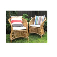 Marde Cane Chair with Cushion