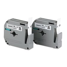 <strong>Brother</strong> P-Touch M Series Tape Cartridge for P-Touch Labelers, 2/Pack
