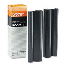 PC302RF Fax Thermal Ribbon Refill Roll, 2/Bx