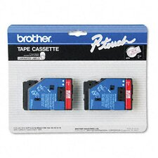 <strong>Brother</strong> P-Touch Tc Tape Cartridges for P-Touch Labelers, 1/2W, 2/Pack