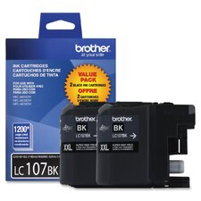 LC-107BK Ink Cartridge, 1200 Yield (Set of 2)