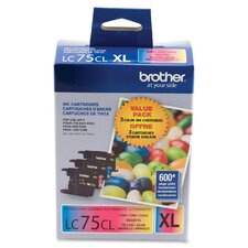 <strong>Brother</strong> LC-75CMY Ink Cartridge, 600 Yield (Set of 3)