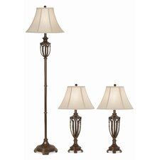 Gallery Estate 3 Piece Table Lamp and Floor Lamp Set