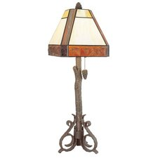 "PCL Sunset 33"" H Table Lamp with Square Shade"