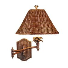 Tropical Swing Arm Wall Lamp