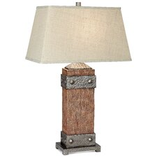 """PCL Rockledge 32.25"""" H Table Lamp with Rectangle Shade"""