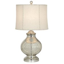 "Essentials Manhattan Modern 27.5"" H Table Lamp with Drum Shade"