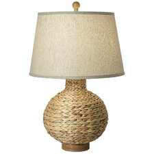 """Seagrass Bay Round 30"""" H Table Lamp with Empire Shade"""