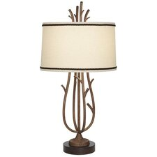 Rustic Twig Cage 1 Light Table Lamp