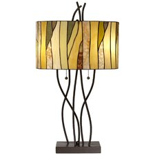 "PCL Twigs Stained 31"" H Table Lamp with Drum Shade"