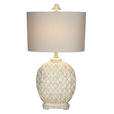 "Kathy Ireland Essentials Marrakesh Weave 31"" H Table Lamp with Drum Shade"