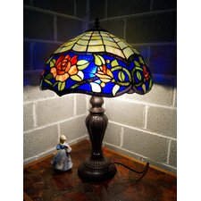 "Rose Style Tiffany 16"" Large Table Lamp"
