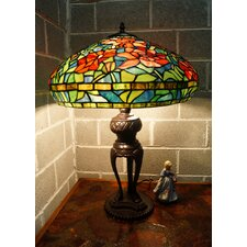 "Floral Tiffany 18"" Large Table Lamp"