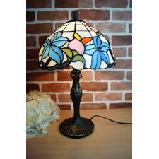 "Morning Glory Tiffany 12"" Bedside Lamp"