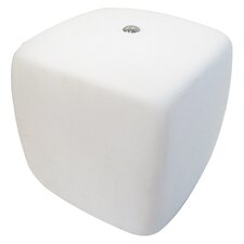 One Light Cube Table Lamp in White