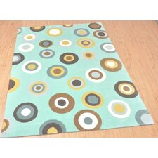 Mono Bubbles Rug in Aqua