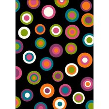 Mono Bubbles Rug in Black