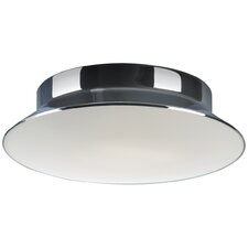 Divine 30cm Flush Mount Ceiling Light in Chrome