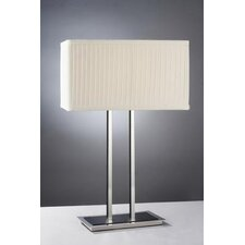 Table Lamp 1136 with Pleated Fabric Shade