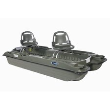Bass Raider 10E Pontoon Boat in Khaki