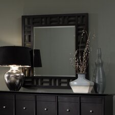 Perspectives Lattice Graphite Dresser Mirror
