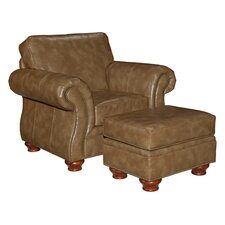 Tahoe Leather Chair and Ottoman