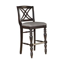 Mirren Pointe Upholstered Seat X-Back Bar Stool