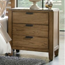 Ember Grove 3 Drawer Nightstand