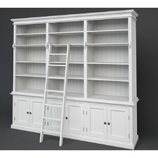 Halifax Hutch 240cm Bookcase and Ladder