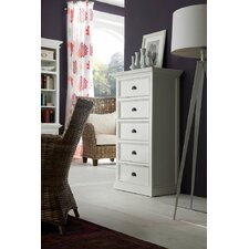 Halifax 5 Drawers Tall Chest with Recycled Timber option