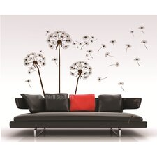 3 Large Dandelions with Quote Wall Sticker
