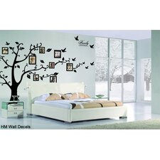 Family Tree with 8 Photo Frames and Quote DIY Wall Decal