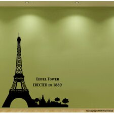 Eiffel Tower Removable Wall Decal