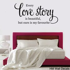Love Story... Quote DIY Removable Wall Decal